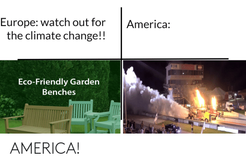 Amal: Europe: watch out for  the climate change!!  America:  E.T-N  Bulueier  AMAL  UMOTORSPORTS PARK  Eco-Friendly Garden  Benches AMERICA!