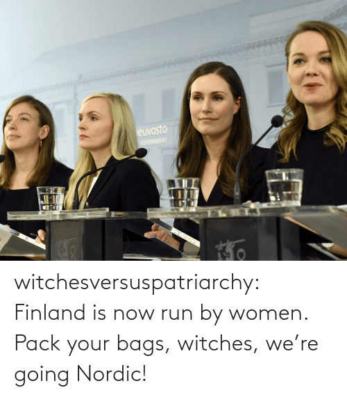 witches: euvosto  COVERNMENT witchesversuspatriarchy:  Finland is now run by women. Pack your bags, witches, we're going Nordic!