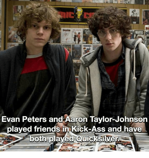 Evan Peters and Aaron Taylor-Johnson Plaved Friends in ...