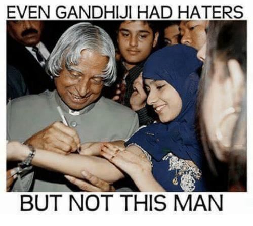 Memes, 🤖, and Gandhi: EVEN GANDHI JI HAD HATERS  BUT NOT THIS MAN