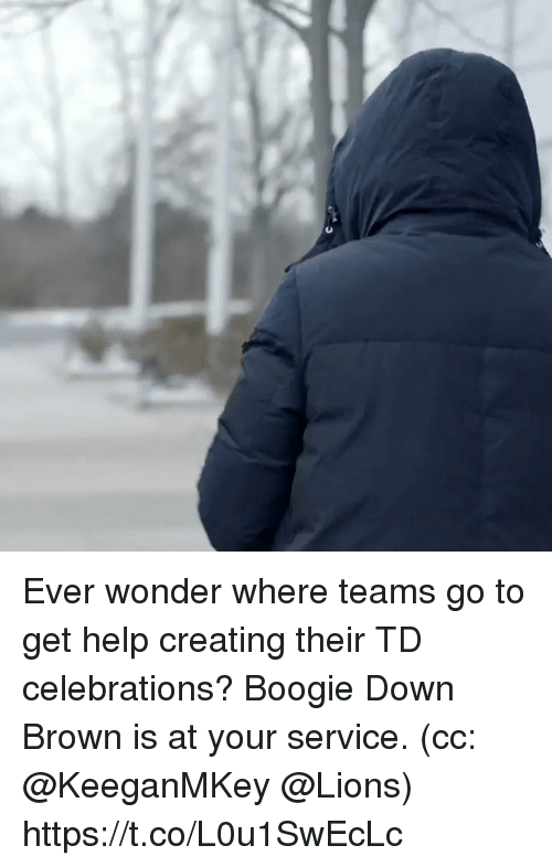 Memes, Help, and Lions: Ever wonder where teams go to get help creating their TD celebrations?  Boogie Down Brown is at your service. (cc: @KeeganMKey @Lions) https://t.co/L0u1SwEcLc