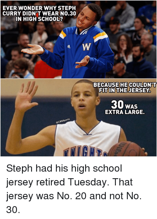 Ever Wonder Why Steph Curry Didnt Wear No30 In High School Because