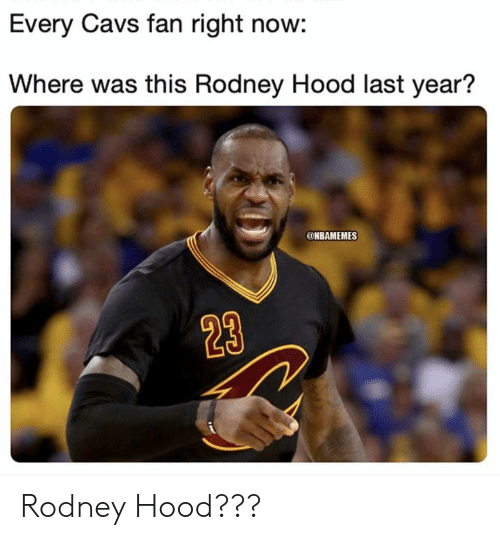 Nbamemes: Every Cavs fan right now:  Where was this Rodney Hood last year?  @NBAMEMES  23 Rodney Hood???