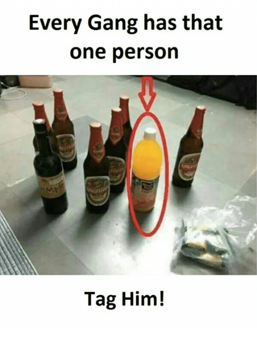 Gang, Personal, and Him: Every Gang has that  one person  Tag Him!