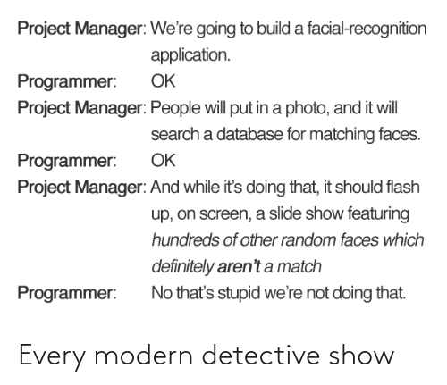 show: Every modern detective show