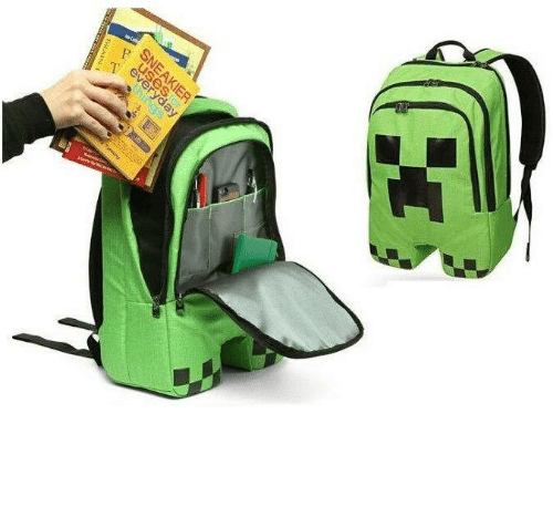 creeper: every  SNEAKIER  BRAIS  hings novelty-gift-ideas:    Minecraft Creeper Backpack