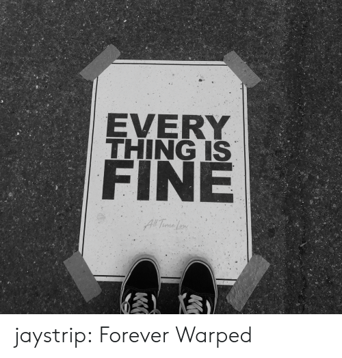 warped: EVERY  THING IS  FINE  All Time Le jaystrip: Forever Warped