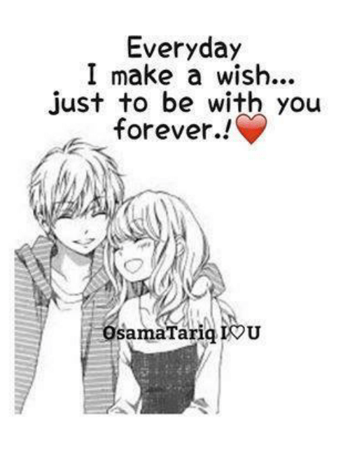iou: Everyday  I make a wish...  just to be with you  forever..!  samaTariq IOU
