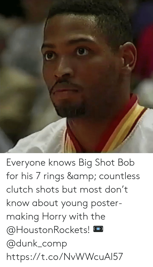 comp: Everyone knows Big Shot Bob for his 7 rings & countless clutch shots but most don't know about young poster-making Horry with the @HoustonRockets!   ? @dunk_comp https://t.co/NvWWcuAl57