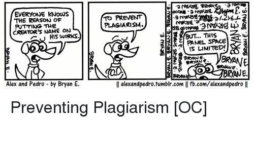 the reasons for and the prevention of plagiarism
