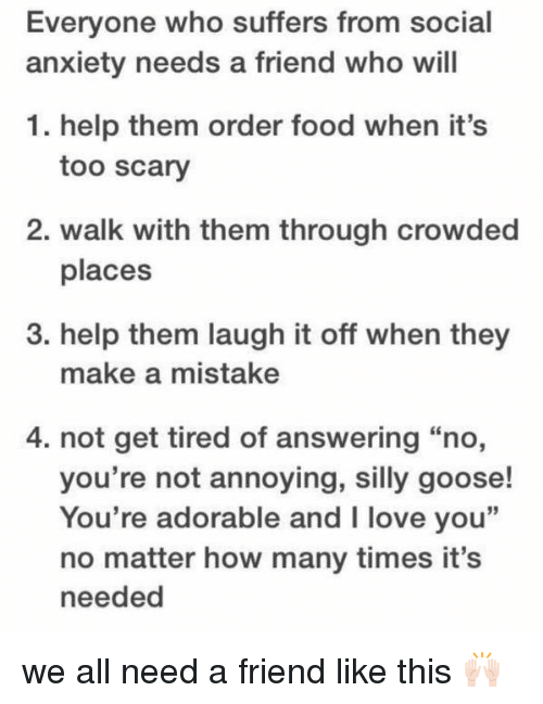 how to help social anxiety friend