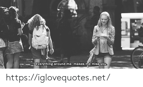 miss you: Everything around me, makes me miss you. https://iglovequotes.net/