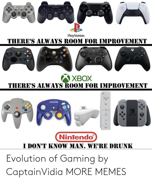 Gaming: Evolution of Gaming by CaptainVidia MORE MEMES