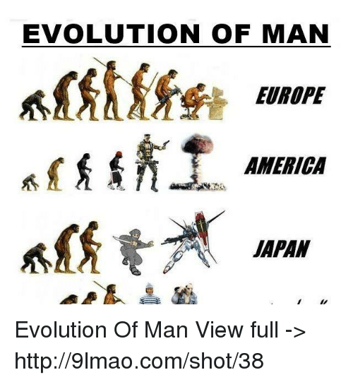evolution of man Editor's comments the evolution man is one of my favorite things in the world: a superbly well-crafted joke a well-crafted joke wastes not a word, yet usually.