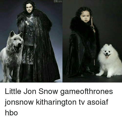 Hbo, Memes, and Jon Snow: EWcom Little Jon Snow gameofthrones jonsnow kitharington tv asoiaf hbo
