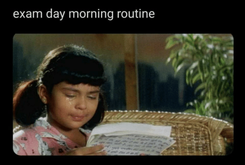 routine: exam day morning routine
