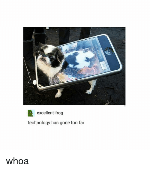 has technology advanced too far Animals have come to mean so much in our lives  the advance of technology  is based on making it fit in so that you don't really even notice it, so it's part of.