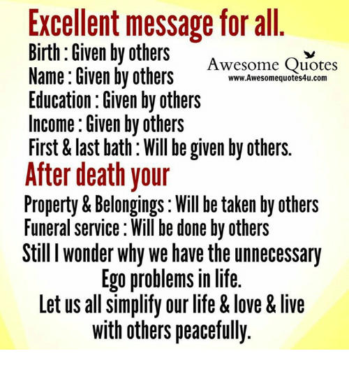 Excellent Message For All Birth Given By Others Awesome