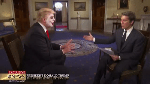 Donald Trump: EXCLUSIV  NEWS  #POTUSonABC  PRESIDENT DONALD TRUMP  THE WHITE HOUSE INTERVIEW