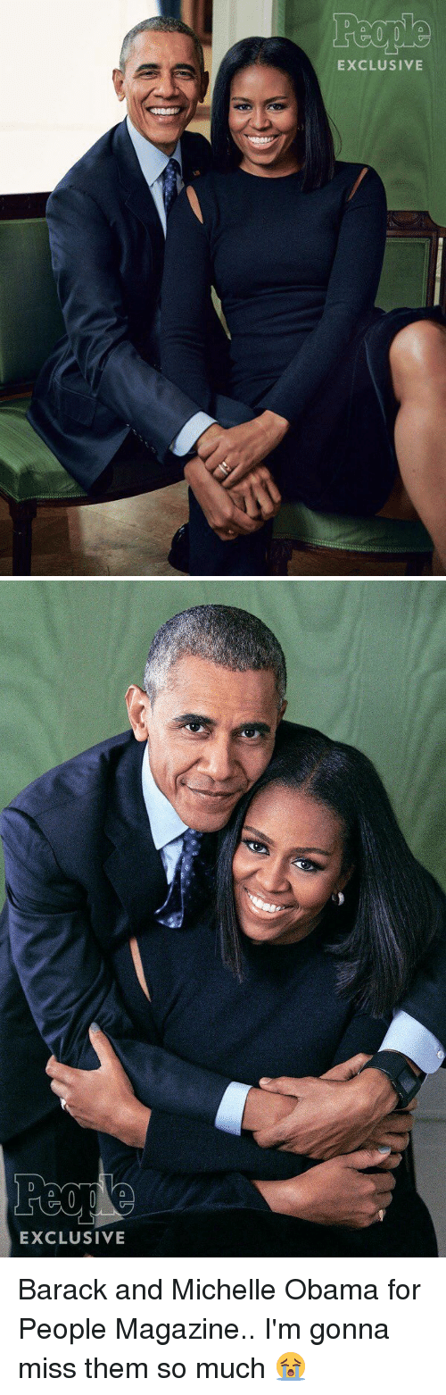 Peoples Magazine: EXCLUSIVE   EXCLUSIVE Barack and Michelle Obama for People Magazine.. I'm gonna miss them so much 😭