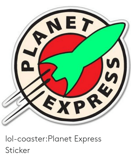 Decal: EXP lol-coaster:Planet Express Sticker