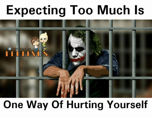 Memes, Too Much, and 🤖: Expecting Too Much Is  One Way Of Hurting Yourself