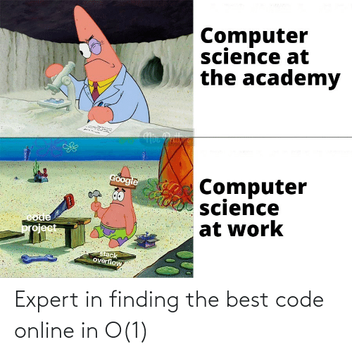 Finding: Expert in finding the best code online in O(1)