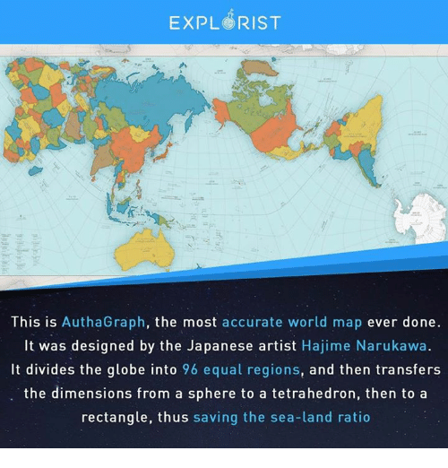 EXPL RIST This Is AuthaGraph the Most Accurate World Map Ever Done ...