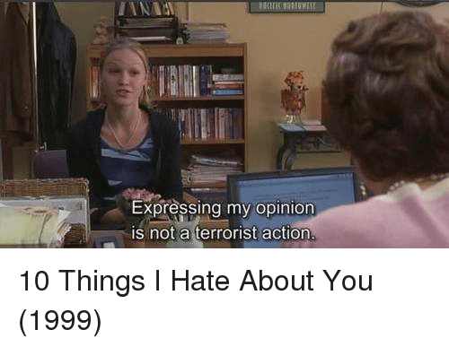 10 Things I Hate About You Meme: Funny Express Memes Of 2017 On SIZZLE