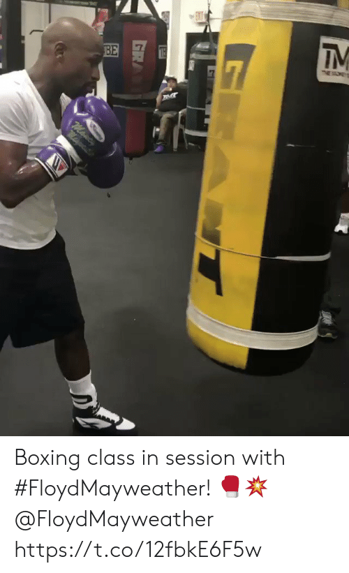 Boxing: EXT  BE  7  IM  $7  M  ma Boxing class in session with #FloydMayweather! 🥊💥 @FloydMayweather https://t.co/12fbkE6F5w