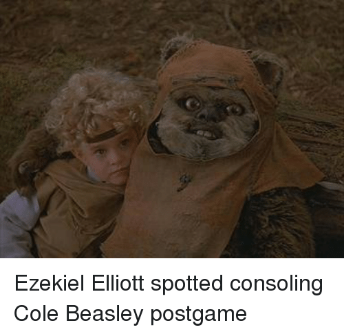 Football, Nfl, and Sports: Ezekiel Elliott spotted consoling Cole Beasley postgame