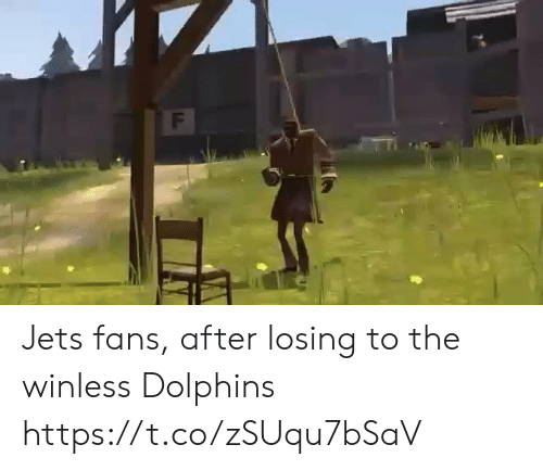 Dolphins: F Jets fans, after losing to the winless Dolphins https://t.co/zSUqu7bSaV