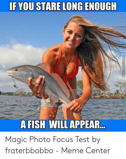 Fraterbbobbo: F YOU STARE LONG ENOUGH  A FISH WILL APPEAR Magic Photo Focus Test by fraterbbobbo - Meme Center