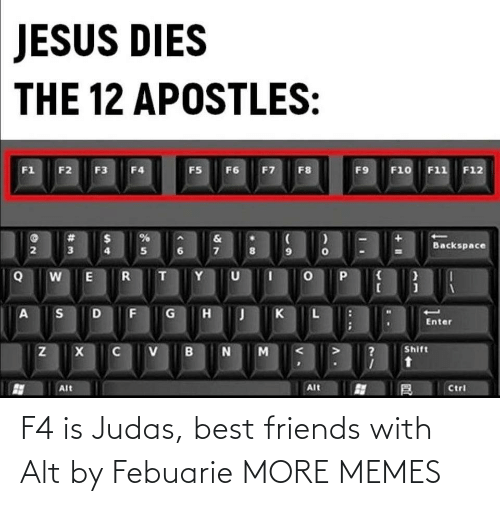 Best Friends: F4 is Judas, best friends with Alt by Febuarie MORE MEMES