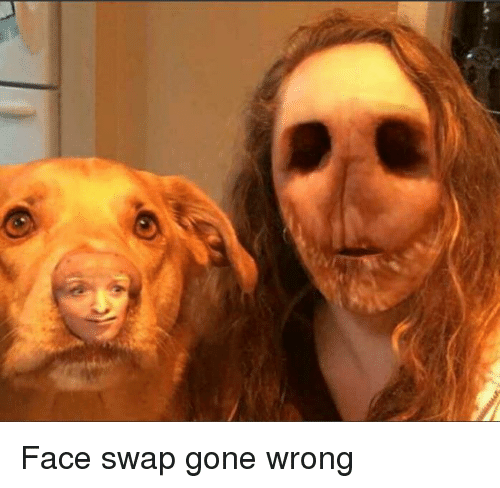 Gone Wrong: Face swap gone wrong