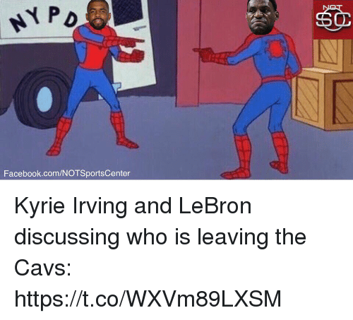 facebookcomnotsportscenter kyrie irving and lebron discussing who is leaving the cavs