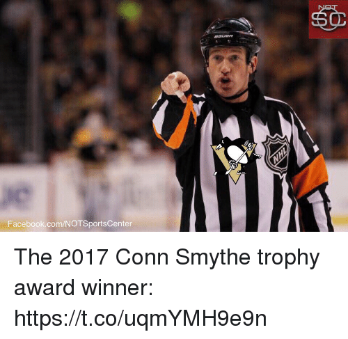 Facebook, Sports, and facebook.com: Facebook.com/NOTSportsCenter The 2017 Conn Smythe trophy award winner: https://t.co/uqmYMH9e9n
