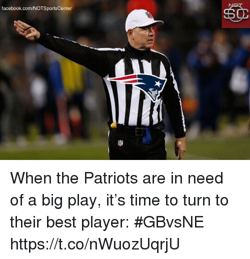 Notsportscenter: facebook.com/NOTSportsCenter When the Patriots are in need of a big play, it's time to turn to their best player: #GBvsNE https://t.co/nWuozUqrjU