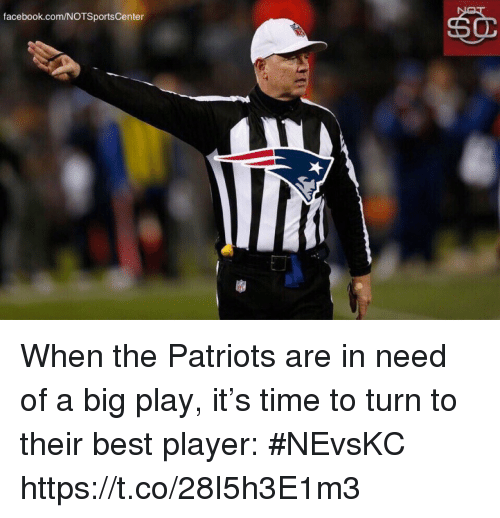Notsportscenter: facebook.com/NOTSportsCenter When the Patriots are in need of a big play, it's time to turn to their best player: #NEvsKC https://t.co/28I5h3E1m3