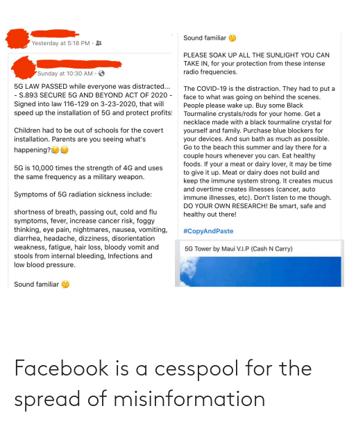 misinformation: Facebook is a cesspool for the spread of misinformation