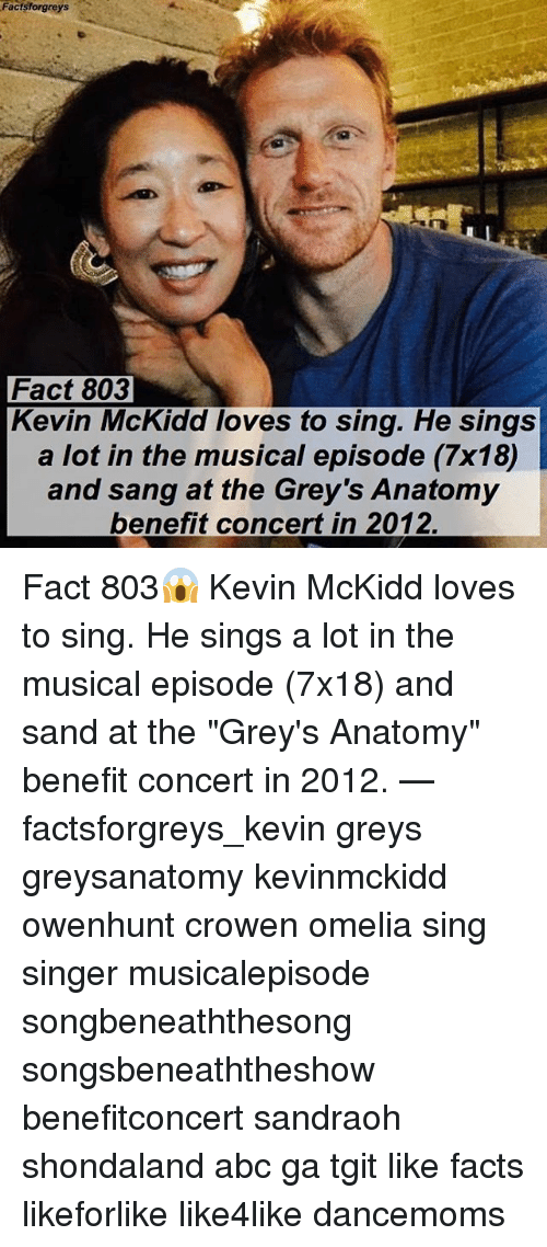 "singe: Facts forgreys  Fact 803  Kevin McKidd loves to sing. He sings  a lot in the musical episode (7x18)  and sang at the Grey's Anatomy  benefit concert in 2012. Fact 803😱 Kevin McKidd loves to sing. He sings a lot in the musical episode (7x18) and sand at the ""Grey's Anatomy"" benefit concert in 2012. — factsforgreys_kevin greys greysanatomy kevinmckidd owenhunt crowen omelia sing singer musicalepisode songbeneaththesong songsbeneaththeshow benefitconcert sandraoh shondaland abc ga tgit like facts likeforlike like4like dancemoms"