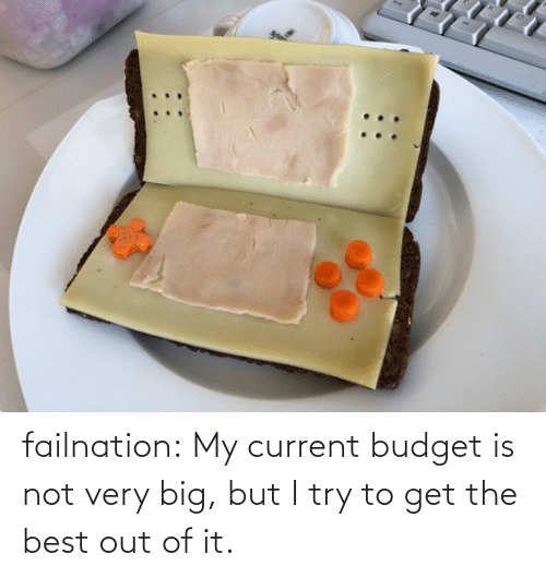 I Try: failnation:  My current budget is not very big, but I try to get the best out of it.