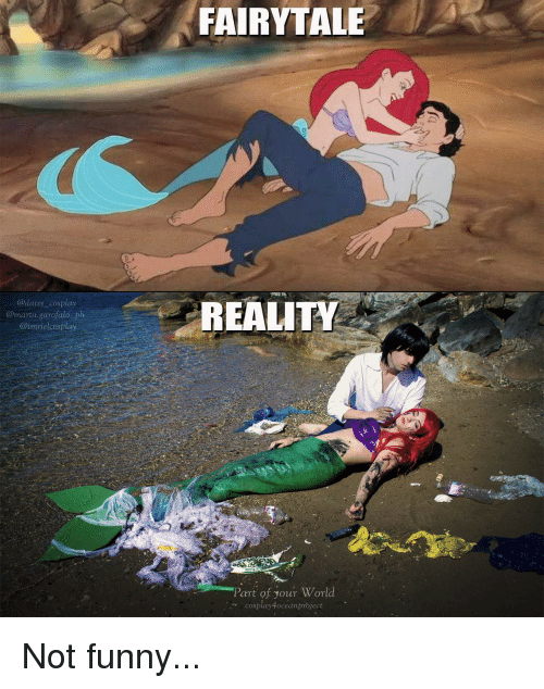 fairytale: FAIRYTALE  ad  REALITY  @marta.garofalo ph  @imrielcosplay  Part of your Worl  cosplay4oceanproject Not funny...