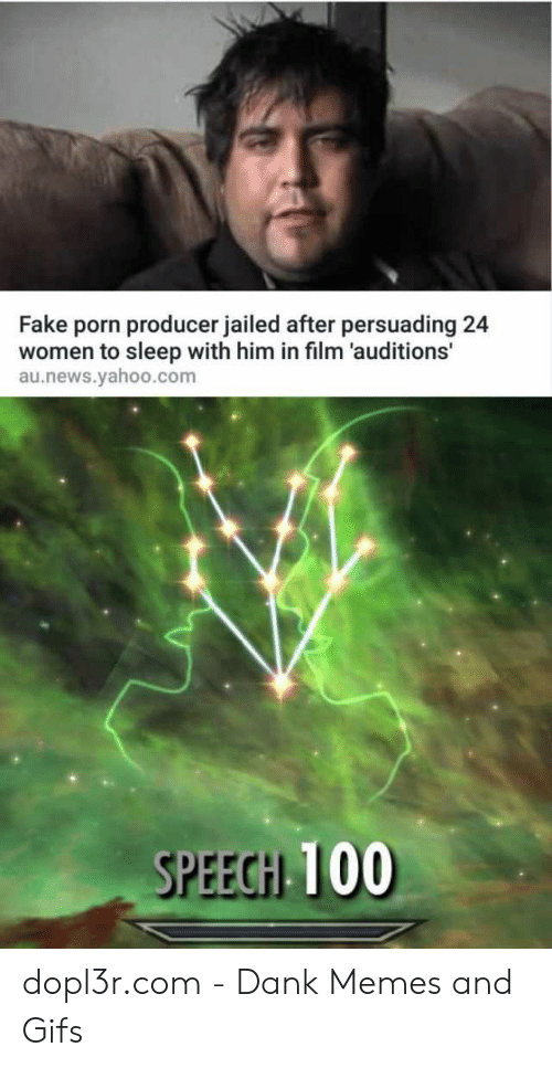Mcspankies Meme: Fake porn producer jailed after persuading 24  women to sleep with him in film 'auditions'  au.news.yahoo.com  SPEECH 100 dopl3r.com - Dank Memes and Gifs