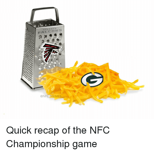 Football, NFC Championship Game, and Nfl: FALCON  @NFL MEMES Quick recap of the NFC Championship game