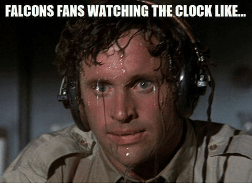 Falcons Fans: FALCONS FANS WATCHING THE CLOCK LIKE...