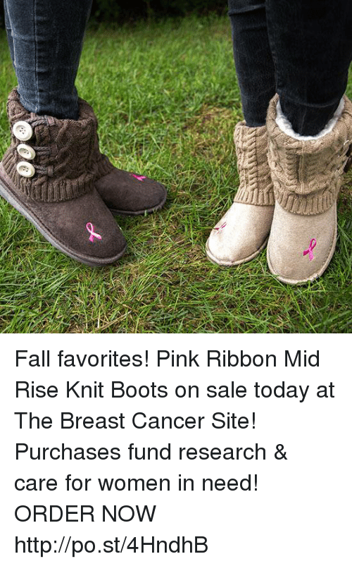 Fall: Fall favorites! Pink Ribbon Mid Rise Knit Boots on sale today at The Breast Cancer Site! Purchases fund research & care for women in need!  ★ORDER NOW★  http://po.st/4HndhB