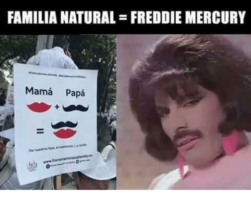 Memes, Mercury, and Freddie Mercury: FAMILIA NATURAL-FREDDIE MERCURY  Mama Papa