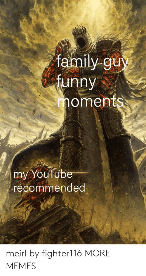my youtube: family guy  tunny  oments  my YouTube  recommended meirl by fighter116 MORE MEMES