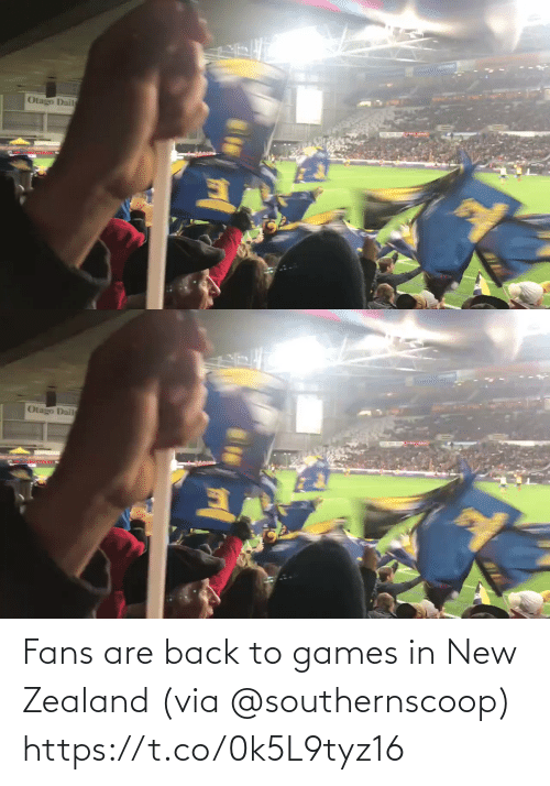 Back: Fans are back to games in New Zealand (via @southernscoop) https://t.co/0k5L9tyz16